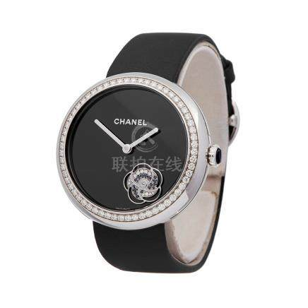 2018 Chanel Mademoiselle Prive 18K White Gold - H3093