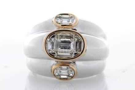 18ct White Gold Fancy Diamond Eternity Ring 0.93