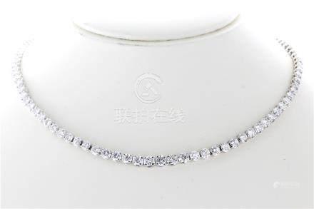 18ct White Gold Claw Set Diamond Collarate 16.5 Carats