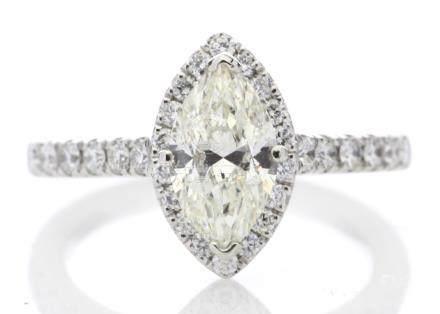 Platinum Single Stone Marquise Cut Diamond Ring (1.04) 1.43