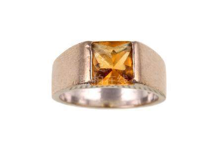 A citrine 'Torc' ring, by Cartier