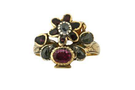A gem-set giardinetto ring, second half of the 18th century and later