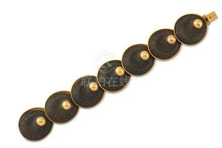 A 19th century carved ebony bracelet