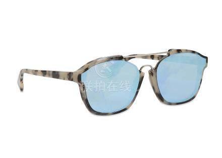 Christian Dior Abstract Light Tortoise Sunglasses, c. 2016, reflective lenses, model number A4EA4