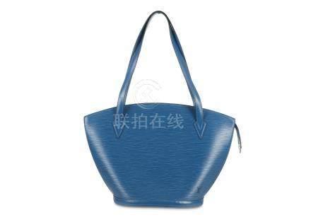 Louis Vuitton Blue Saint Jacques GM, Epi leather with short handles, 44cm wide, 30cm high, 27cm