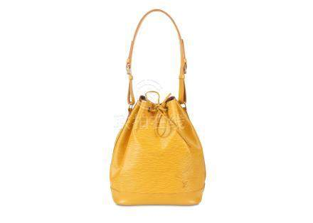Louis Vuitton Yellow Epi Noe GM, c. 1995, Epi leather with gold tone hardware, 27cm wide, 34cm high,