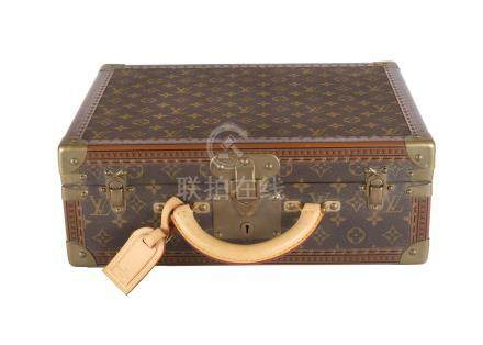 Louis Vuitton Monogram Cotteville 40 Trunk, monogram canvas with leather trim and gold tone