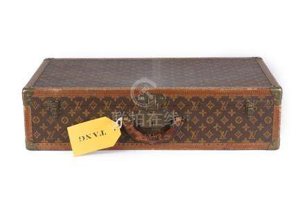 Louis Vuitton Monogram Alzer Trunk, first half 20th century, monogram canvas with leather trim and