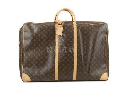 Louis Vuitton Sirius 70 Suitcase, c. 2006, monogram canvas with tan leather trim, 70cm wide, 49cm