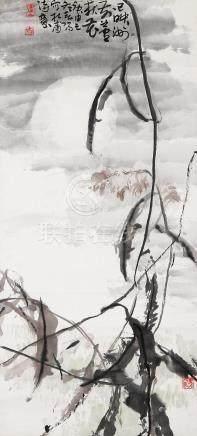 霍春阳 杜甫诗意图 挂轴 设色纸本