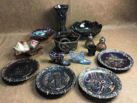 LOT OF FENTON, IG, AND CARNIVAL GLASS