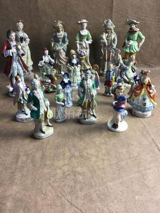 LOT OF VINTAGE MADE IN OCCUPIED JAPAN FIGURINES
