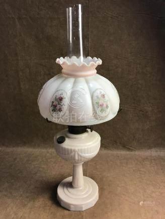 VINTAHE ALADDIN LINCOLN DRAPE ALACITE OIL LAMP