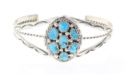 MC Cluster Turquoise Bracelet