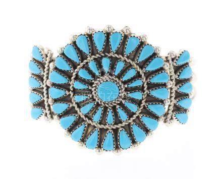 JB Vintage Block Turquoise Cluster Bracelet
