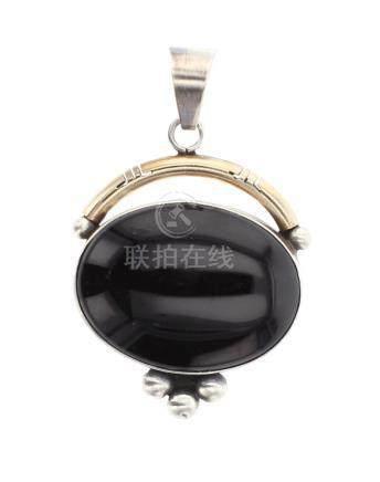 Bobby Johnson Vintage Black Onyx Pendant