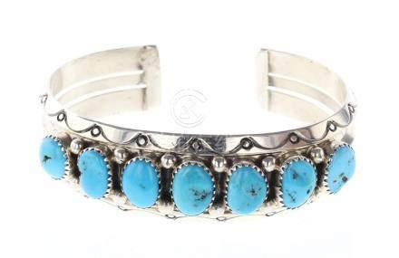 SC Vintage Turquoise Row Bracelet
