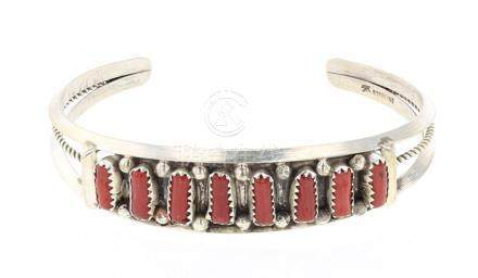 Vintage Coral Row Bracelet