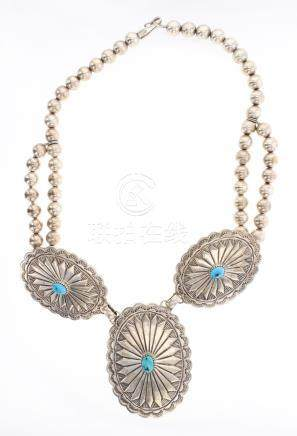 Tim Guerro Vintage Stamp Beads Necklace