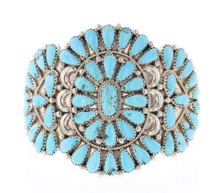 JSW Vintage Large Cluster Turquoise Bracelet