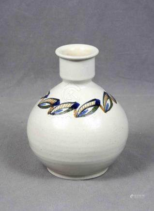 Jarrón en cerámica policromada española de Valdemorillo, dec