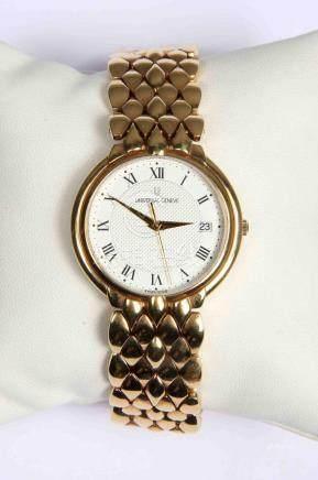 Reloj suizo de pulsera de la marca UNIVERSAL GENEVE, chapado