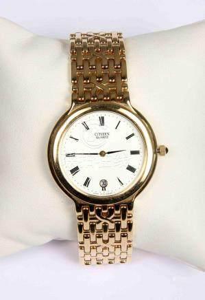Reloj suizo de pulsera de la marca japonesa CITIZEN, chapado