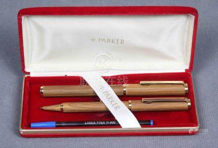 Juego de bolígrafo y pluma estilográfica de la firma PARKER,