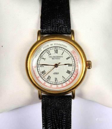 Reloj réplica de cronógrafo médico en dorado, con esfera cir