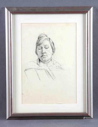 "PALAO, LUIS (S.XIX-XX). ""Retrato de dama"". Dibujo a carbonci"