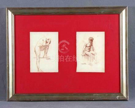 """ARTETA, AURELIO (1879-1940). """"Desnudos masculinos"""". Dos sang"""