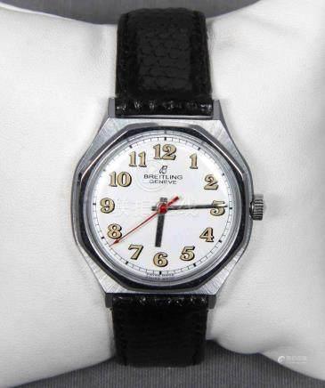 Reloj de la marca BREITLING en acero, años 50, con mecanismo