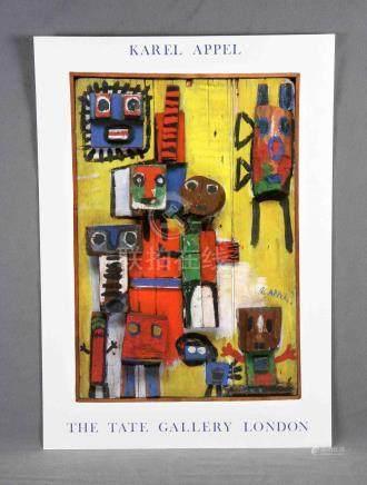 "KAREL, JOHNS (1921-2006). ""ST"". Cartel offset de la Tate Gal"