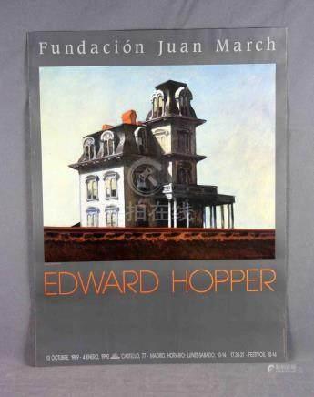 "HOPPER, EDWARD (1882-1967). ""ST"". Cartel de la exposición Fu"