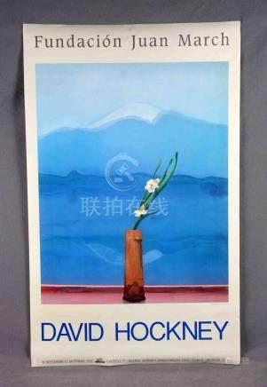 """HOCKNEY, DAVID (1937). """"ST"""". Cartel de la exposición Fundaci"""