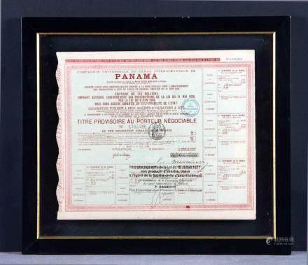 Obligación de 60 francos. Compagnie Universelle du Canal de