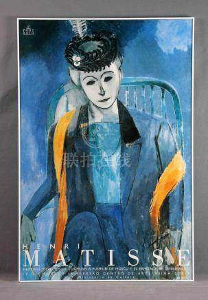 "MATISSE, HENRI (1869-1954). ""ST"". Cartel de exposición Museo"