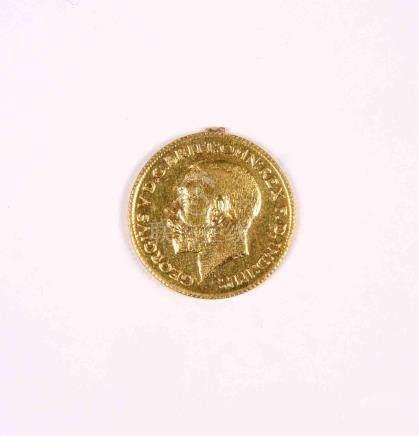 Un soberano de George V, Inglaterra 1891, en oro. MBC.