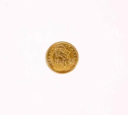 Lote formado por cuatro monedas de 1 dólar americano, año 18
