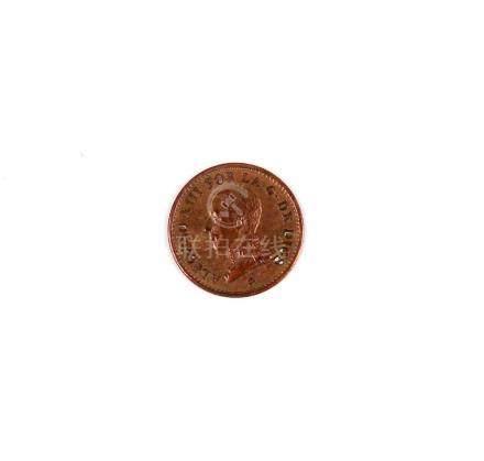 Moneda española de Alfonso XIII. 1913, de 1 céntimo, ceca Ma