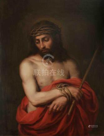 """MURILLO, BARTOLOMÉ ESTEBAN (1618-1682). """"Ecce Homo"""". Óleo so"""