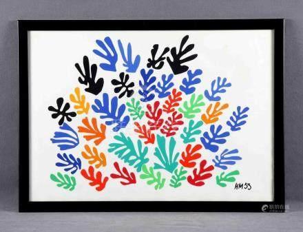 "MATISSE, HENRI (1869-1954). ""Colores"". Litografía color. Fec"