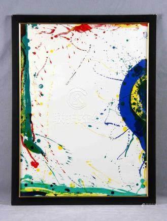 """FRANCIS, SAM (1923-1994). """"SF"""". Litografía color. Justificad"""