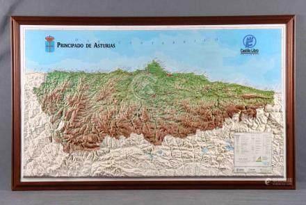 Mapa en relieve del Principado de Asturias, a escala 1:200.0