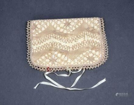 Bolsa con encajes para medias. Med.: 17x23 cm.