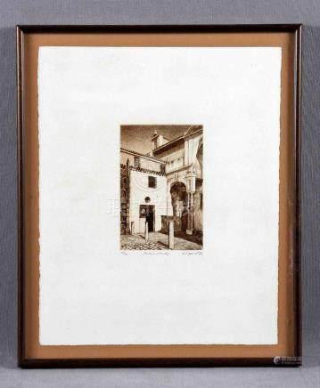 """BARRIENTOS RUIZ, ANTONIO JOSÉ (S.XX). """"Santa Clara, Sevilla"""""""