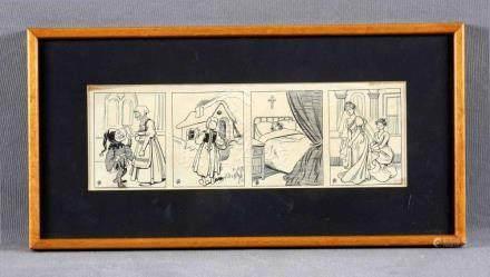 """MESTRES, APELES (1854-1936). """"Escenas con cuatro ilustracion"""