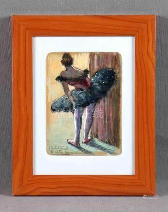 """RIBAS RIUS, RAMÓN (1903-1983). """"Bailarina del Liceo"""". Gouach"""