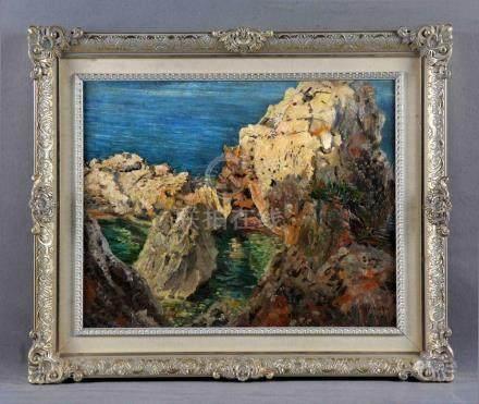 "JENER, EDUARDO (1882-1942). ""Deya, Mallorca"". Óleo sobre tab"