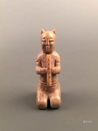 Chinese Archaic 'Musician' Jade Figure